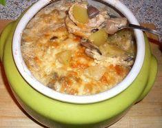 Жаркое из сердечек с грибами в горшочке или очень быстрый вкусный обед или ужин