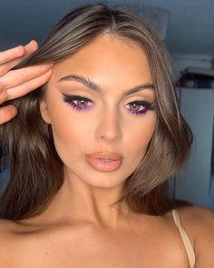 Purple Makeup Looks, Purple Eye Makeup, Makeup Eye Looks, Creative Makeup Looks, Skin Makeup, Dope Makeup, Glam Makeup Look, Gorgeous Makeup, Pretty Makeup