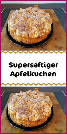 Super Juicy Apple Pie - Ingredients 125 g margarine or butter soft 125 g sugar 3 egg (s) ½ pck. Baking powder 250 g flour - Easy Cake Recipes, Dessert Recipes, Apple Pie Ingredients, Bienenstich Recipe, Cannelloni Recipes, Vegan Blueberry, Flaky Pastry, Mince Pies, Homemade Vanilla