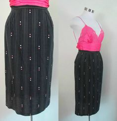 Cotton Straight Pencil Skirt Vintage 1950s by rileybellavintage, $30.00