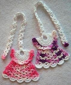 Ravelry: Darling Little Dresses Thread Crochet Pattern (Bookmark) pattern by LinMarie Creations.