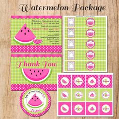 WATERMELON party Package  YOU Print by PrettyPartyCreations, $40.00