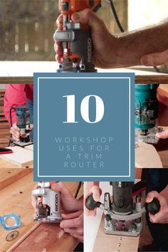 The trim router is a tool that might not get much use in some shops, but it is unique and surprisingly versatile tool. Here are 10 ways to get that half-pint router out of the cobwebs and into the action much more often!  #rocklerlearn #learncontent #trimrouter #trimrouteruses Woodworking Hand Tools, Beginner Woodworking Projects, Woodworking Shop, Router Lift, Trim Router, Router Accessories, Plunge Router, Wood Plugs, Half Pint