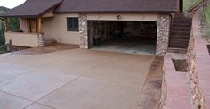 Brown Exposed Aggregate Driveway Site Diehl Concrete Sedalia, CO Exposed Aggregate Driveway, Concrete Driveways, Driveway Landscaping, Driveway Ideas, Workshop Layout, Decorative Borders, Radiant Heat, Home Improvement, New Homes