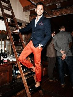 Orange and Navy - Get this look: https://www.lookmazing.com/images/view/8061?shrid=1669