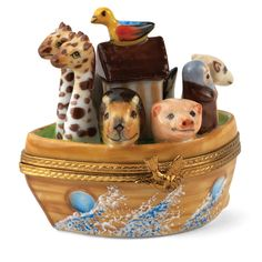 Noah's Ark Limoges Box | Limoges Boxes | Handpainted Porcelain | Collectables | ScullyandScully.com