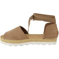 208ec7ec408b Fashion Thirsty Womens Flat Lace Up Sandals Espadrilles Summer Chunky  Holiday Shoes Size    Check out the image by visiting the link.