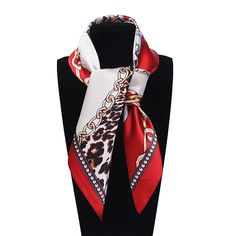 Find More Scarves Information about 60cm*60cm Women 2016 New Fashion Imitated Silk Metal Chain and Euro Sexy Leopard Printed Office Lady Square Scarf Hot Sale,High Quality Scarves from YAU Official Store on Aliexpress.com