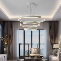 Description: A bespoke design for modern housing, uplift your interior design with our Halo Geometric chandelier. This is a statement piece giving any room a sophisticated focal point. we are proud to introduce this product. Details: Power source: AC Installation: Mains Installed Voltage: 90-260V LED light source Lighting area: 15-39 square metres Switch type: Touch on/off Dimmable: Yes Colour: White/Brown/black/Golden material: Aluminium Finish: Coat of paint Dimensions: 40/60/80CM Interior Des White Chandelier, Chandelier In Living Room, Dining Room Lighting, Apartment Lighting, Interior Lighting, Home Lighting, High Ceiling Lighting, Ceiling Lights, Modern Pendant Light