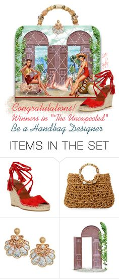 """""""Award Set for Be a Handbag Designer (Pin-up Beach Bag)"""" by judymjohnson ❤ liked on Polyvore featuring art"""