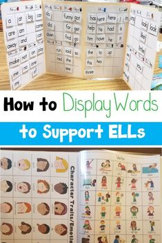 Learn new ideas for displaying words to support ELLs. You can use interactive word walls, labels, and vocabulary folders. Vocabulary Wall, Vocabulary Activities, Ell Strategies, Teaching Strategies, Teaching Tips, English Language Learners Elementary, Teaching English, Interactive Word Wall, Ell Students
