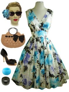 Can we dress like this everyday??  It's so lovely. My pin up girl vintage spirit loves it!