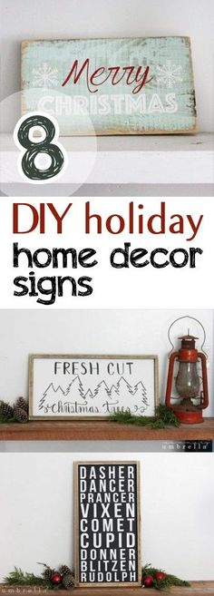 8 DIY Holiday Home Decor Signs - Picky Stitch