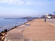 Galveston Island, Texas - Seawall Blvd.