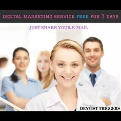MARKETING YOUR DENTAL PRACTICE IS HARD TASK TO DO !! RIGHT ?  WRONG !! We can do it FREE for you  Yeah you heard it right!! FREE OF COST!! Just Share Your Email  and Get it all done for you ! Dm @dentist_triggers  Dentist Triggers specialized consulting and Internet marketing company for Dentists has successfully completed its 10 years in Business .  We have been helping and empowering 100s of Dental Practice worldwide to not only Grow Dental practices into Seven figures but also in turning…