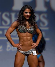 WBFF girl. Wow. I will be nowhere near this ripped, but she's gorgeous.