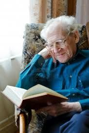 old man reading book - Google Search