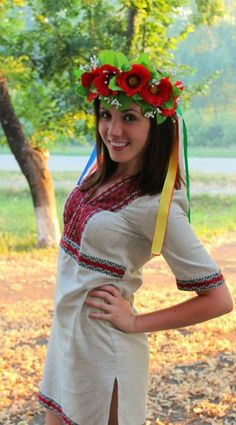 Ukraine - wearing a nice poppy vinok! Ukraine Women, Ukraine Girls, Most Beautiful Eyes, Beautiful Women, Ukrainian Dress, Ukrainian Ladies, Ethno Style, Russian Beauty, Folk Costume