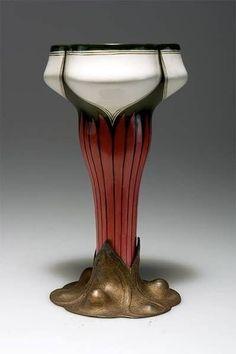 Art Nouveau Vase by Walter Scherf & Co.  -  Nürnberg, fayence by Vilmós Zsolnay 1899-1900.
