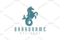 For sale. Only $29 - animal, ocean, water, fish, horse, sea, marine, Greek, pony, creature, mythology, stallion, antique, myth, fin, legendary, Poseidon, hippocampus, strategy, consulting, spa, wellness, hotel, fishing, aquarium, Neptune, logo, design, template,