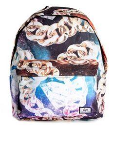 Hype Chain Print Backpack