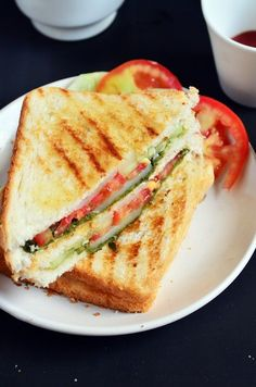 Bombay grilled sandwich  12 white bread slices 1 large potato,boiled,peeled and sliced thin 2 tomatoes, sliced into thin rounds 1 medium onions,sliced into round ½ capsicum sliced into rounds (optional) chaat masala powder pepper powder salt Salted butter For green chutney 1 small bunch cilantro leaves,washed,and roughly chopped 1 small bunch mint leaves,washed and roughly chopped 2 green chillies ½ teaspoon roasted cumin powder ½ teaspoon chaat masala powder ½ teaspoon sugar 1 tablespoon…