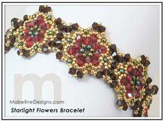 Starlight Flowers Bracelet designed by Mabeline Gidez