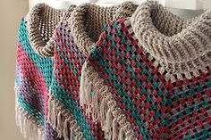 Cowl Neck Poncho from Simply Crochet - pattern for purchase at Raverly.  Love these colors, this one by tannastanley
