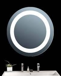 Illuminated round led halo bathroom mirror with demister heat pad illuminated round led halo bathroom mirror with demister heat pad frosted border pinterest bathroom mirrors rounding and bath aloadofball Image collections