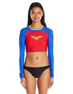Wonder Woman Long Sleeve Crop Rashguard