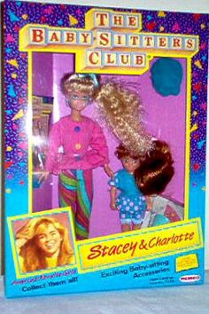 Stacey and Charlotte Dolls BSC The Baby Sitters Club, Childhood Memories 90s, Barbie, Babysitters, My Books, Nostalgia, The Past, Charlotte, Geek Stuff