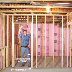 Turn your unfinished basement into a living space. Framing basement walls and insulating basement walls is the core of any basement finishing project Insulating Basement Walls, Framing Basement Walls, Basement Insulation, Wet Basement, Man Cave Basement, Basement Windows, Basement Plans, Basement Bedrooms, Basement Flooring