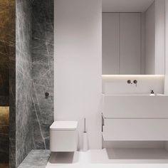 Toilet New Bathroom Designs, Modern Bathroom Decor, Bathroom Interior Design, Wc Bathroom, Bathroom Fixtures, Bathroom Wallpaper, Bathrooms, Minimalist Bathroom, Minimalist Home