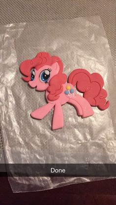 Pinkie Pie in Fondant by Amber's Little Cupcakery