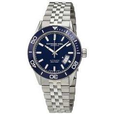 b85f9273697 Raymond Weil 2760-ST3-50001 Mens Freelancer Blue Automatic Watch