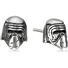 Amazon.com: Star Wars Jewelry Unisex Episode 7 Kylo Ren 3D Stainless... ($25) ❤ liked on Polyvore featuring jewelry, earrings, stainless steel jewellery, unisex jewelry, stainless steel earrings, stud earrings and stainless steel jewelry