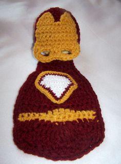 Costume-Baby Boy Photo Prop-Superhero Cape Set--Baby Hat-Crochet Hat-Newborn Crochet-0 to 3 months-3 to 6 months-Made to Order