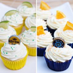 Corona and blue moon cupcakes!