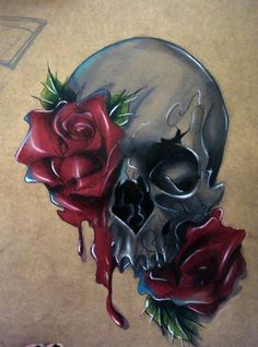 beautiful skull tattoos for women Skull Rose Tattoos, Body Art Tattoos, Bear Tattoos, Butterfly Tattoos, Flower Tattoos, Sleeve Tattoos, Tattoo Fairy, Tattoo Caveira, Zealand Tattoo