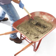 How to hand mix concrete so it delivers maximum strength and durability. Concrete mixing isn't complicated and it should last when done well. Concrete Mix Ratio, Types Of Concrete, Concrete Stone, Concrete Cement, Poured Concrete, Diy Concrete Patio, Concrete Pad, Concrete Crafts, Concrete Projects