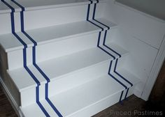 diy painted stair runner, diy, home decor, painting, stairs