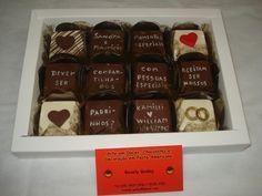 convite de chocolate para padrinhos de casamento