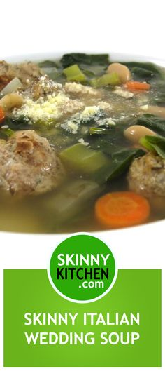 Skinny Italian Wedding Soup. Such a delicious, main course soup! Each serving has just 169 calories, 4g fat and 4 Weight Watchers POINTS PLUS. http://www.skinnykitchen.com/recipes/skinny-italian-wedding-soup/