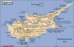 Mapa - Ciprusi Köztársaság