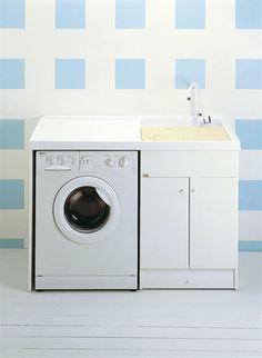 A.02 Mobile lavabo / lavatoio per lavatrice | bagno | Pinterest ...