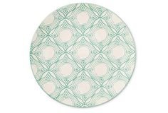 S/4 Medallion Salad Plates, Mint From the Home Decor Discovery Community At www.DecoAndBloom.com