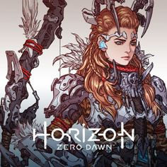Horizon Zero Dawn, Woo Kim on ArtStation at https://www.artstation.com/artwork/Aa5dN