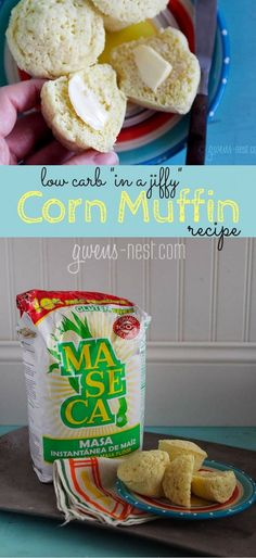 YES, yes, YES!!! A low carb cornbread recipe- like the jiffy muffins. IN love. Less than 2 carbs each make these Trim Healthy Mama FP or E friendly!!! In a Jiffy Corn Muffin Recipe - Gwen's Nest