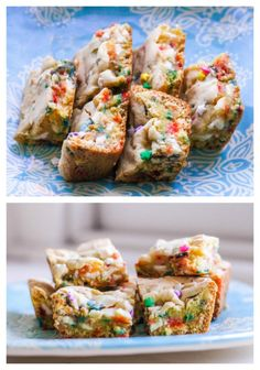 Cake Batter Blondies - 6 ingredients and 30 minutes is all you need!