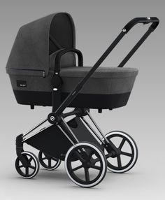 Cybex Priam Carrycot Manhattan Grey Trekking Wheels Stroller